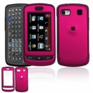 Hard Plastic Rubber Feel Cover Case for LG Xenon GR500 (AT&T) - Rose Pink