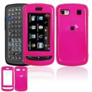 Hard Plastic Smooth Shield Cover Case for LG Xenon GR500 (AT&T) - Hot Pink