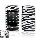 Hard Plastic Shield Protector Case for LG VU CU915 / CU920 - Black / White Zebra
