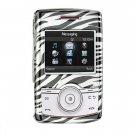 Hard Plastic Design Cover Case for Samsung Propel A767 - Black / Silver Zebra