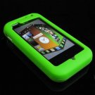 Soft Rubber Silicone Skin Cover Case for LG Arena KM900 - Lime Green