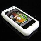 Soft Rubber Silicone Skin Cover Case for LG Arena KM900 - White
