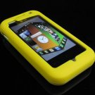 Soft Rubber Silicone Skin Cover Case for LG Arena KM900 - Yellow