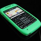 Premium Grip Soft Rubber Silicone Skin Cover Case for Nokia E71 - Green