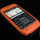 Premium Grip Soft Rubber Silicone Skin Cover Case for Nokia E71 - Orange