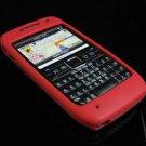 Premium Grip Soft Rubber Silicone Skin Cover Case for Nokia E71 - Red