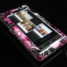 Hard Plastic Design Cover Case for Samsung Memoir T929 - Full View Pink Butterfly