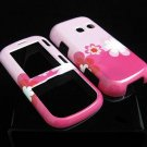 Hard Plastic Design Cover Case for LG Rumor 2 LX265 - Pink Flowers