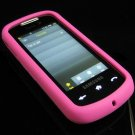 Soft Rubber Silicone Skin Cover Case for Samsung Instinct S30 - Hot Pink