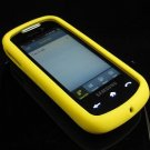 Soft Rubber Silicone Skin Cover Case for Samsung Instinct S30 - Yellow