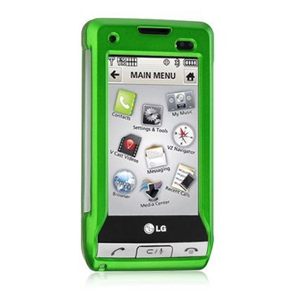 Hard Plastic Shield Protector Faceplate Case for LG DARE VX-9700 - GREEN