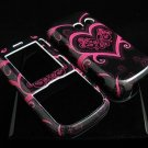 Hard Plastic Design Cover Case for LG Rumor 2 LX265 - Pink Heart