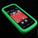 Soft Rubber Silicone Skin Cover Case for Nokia 5800 XpressMusic - Green