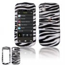 Hard Plastic Design Cover Case for Samsung Instinct S30 - Black / White Zebra
