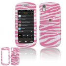 Hard Plastic Design Cover Case for Samsung Instinct S30 - Pink / White Zebra