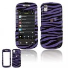 Hard Plastic Design Cover Case for Samsung Instinct S30 - Purple / Black Zebra