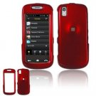 Hard Plastic Smooth Shield Cover Case for Samsung Instinct S30 - Dark Red