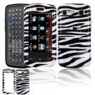 Hard Plastic Design Cover Case for LG Xenon GR500 (AT&T) - Black / White Zebra