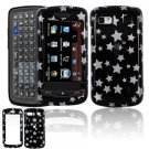 Hard Plastic Design Cover Case for LG Xenon GR500 (AT&T) - Black Star