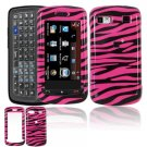 Hard Plastic Design Cover Case for LG Xenon GR500 (AT&T) - Hot Pink / Black Zebra
