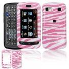 Hard Plastic Design Cover Case for LG Xenon GR500 (AT&T) - Pink / White Zebra