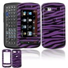 Hard Plastic Design Cover Case for LG Xenon GR500 (AT&T) - Purple / Black Zebra