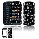 Hard Plastic Design Cover Case for Samsung Impression A877 (AT&T) - Black / Silver Stars