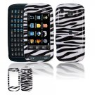 Hard Plastic Design Cover Case for Samsung Impression A877 (AT&T) - Black / White Zebra