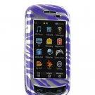Hard Plastic Design Cover Case for Samsung Impression A877 (AT&T) - Purple / Silver Zebra