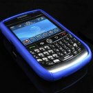 Hard Plastic Two Piece Rubber Feel Faceplates for Blackberry 8900 - Blue