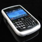 Hard Plastic Two Piece Rubber Feel Faceplates for Blackberry 8900 - Silver