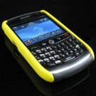 Hard Plastic Two Piece Dual Color Rubber Feel Faceplates for Blackberry 8900 - Black / Yellow