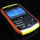 Hard Plastic Two Piece Dual Color Rubber Feel Faceplates for Blackberry 8900 - Orange / Yellow