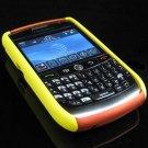 Hard Plastic Robotic Faceplates for Blackberry 8900 - Yellow / Orange