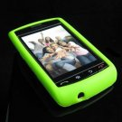 High Quality Premium Soft Rubber Silicone Cover Case for BlackBerry Storm - Lime Green