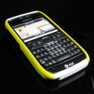 Hard Plastic Robotic Cover Case for Nokia E71 - Yellow / White