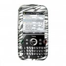 Hard Plastic Design Cover Case for Palm Treo Pro 850 - Silver / Black Zebra