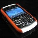 Hard Plastic Robotic Faceplates for Blackberry 8900 - Orange / White
