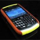 Hard Plastic Robotic Faceplates for Blackberry 8900 - Orange / Yellow
