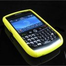 Hard Plastic Robotic Faceplates for Blackberry 8900 - Yellow