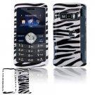 Hard Plastic Design Cover Case for LG enV3 VX9200 (Verizon) - Black / White Zebra