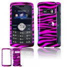 Hard Plastic Design Cover Case for LG enV3 VX9200 (Verizon) - Hot Pink / Black Zebra