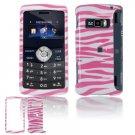 Hard Plastic Design Cover Case for LG enV3 VX9200 (Verizon) - Pink / White Zebra