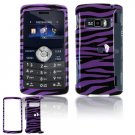 Hard Plastic Design Cover Case for LG enV3 VX9200 (Verizon) - Purple / Black Zebra