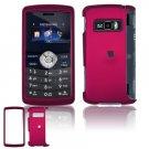 Hard Plastic Rubber Feel Cover Case for LG enV3 VX9200 (Verizon) - Rose Pink