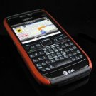Hard Plastic Robotic Cover Case for Nokia E71 - Black / Orange