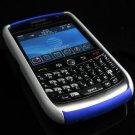 Hard Plastic Robotic Faceplates for Blackberry 8900 - Silver / Blue