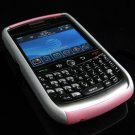 Hard Plastic Robotic Faceplates for Blackberry 8900 - Silver / Pink