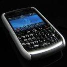 Hard Plastic Robotic Faceplates for Blackberry 8900 - Silver / Black