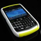 Hard Plastic Robotic Faceplates for Blackberry 8900 - White / Yellow